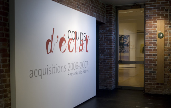 Coups d'éclats. Acquisitions 2006-2007