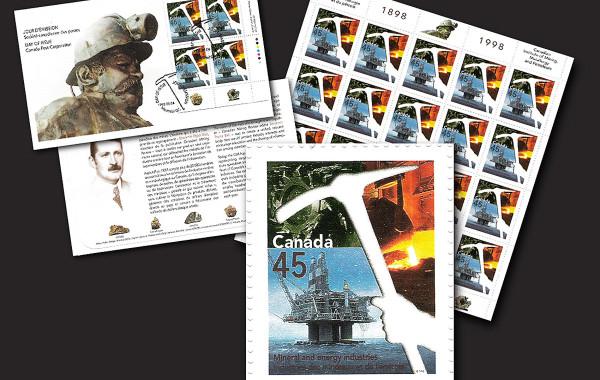 Timbre soulignant le centenaire de l'institut canadien des mines, de la métallurgie et du pétrole
