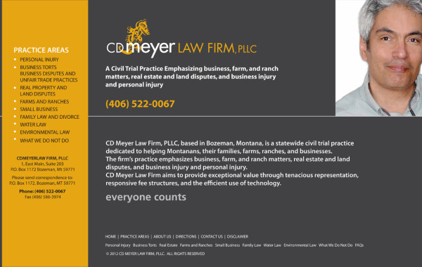 Site Web de la firme CD Meyer Law Firm