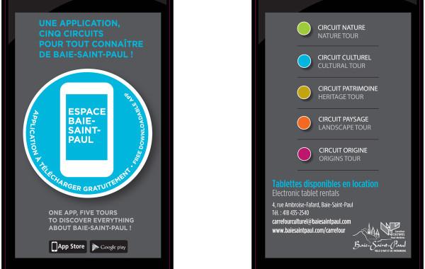 Campagne pour la municipalité de Baie-Saint-Paul – volet application mobile