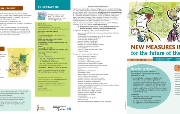 Bulletin Info-Saaq, Société de l'assurance automobile du Québec