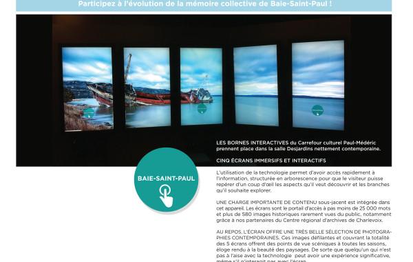 Bornes interactive : Espace Baie-Saint-Paul