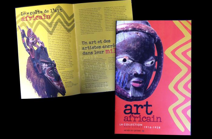 Brochure Art africain. La collection Han Corey 1926 – 1928. Musée national des beaux-arts du Québec