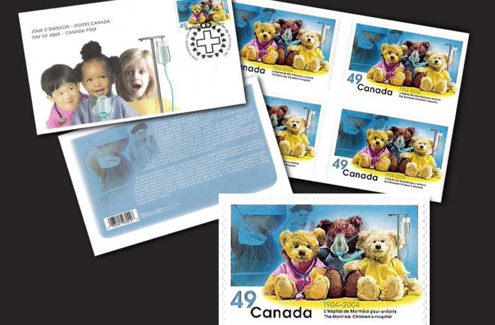 Timbre soulignant le centenaire de l'Hôpital de Montréal pour enfants