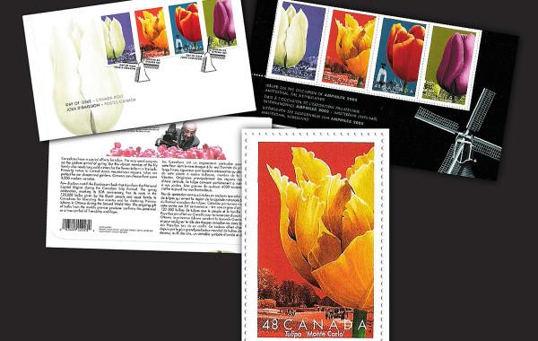 Timbre soulignant le 50e Festival canadien des tulipes